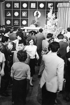Dick Clark is photographed filming his famed television program, American Bandstand, in 1957.