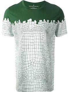 KRIS VAN ASSCHE 'Croco' Print T-Shirt