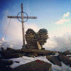 mountainlove/heart in Tyrol, Austria Mountain Love, Tyrol Austria, Visit Austria, Central Europe, Homeland, Switzerland, Sticks, Summertime, Beautiful Places