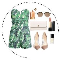 """""""jungle mix"""" by nika127 ❤ liked on Polyvore featuring Chloé, H&M, Gianvito Rossi, Valextra, Christian Dior, Lancôme and Chanel"""