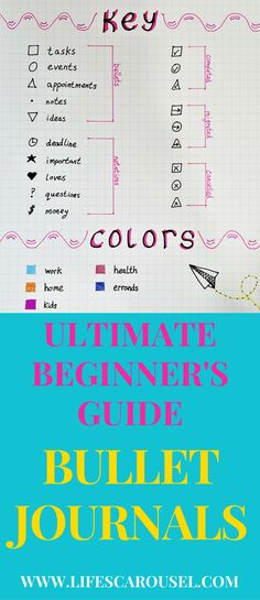 Start a Bullet Journal | Complete Beginner's Guide to Bullet Journals. Simple break down of EXACTLY how to start a bullet journal so you can be more organized and focus on your goals.