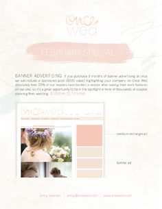 once wed media package. watercolour wonderfulness