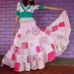 15 Modelos de roupas com Patchwork – Vestidos, saias e roupa infântil