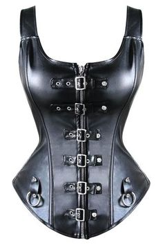 Black Leather Corset, Leather Bustier, Leather Buckle, Leather Lingerie, Leather Vest, Plus Size Corset, Plus Size Lingerie, Sexy Lingerie, Top Bustier