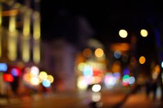 city lights night view blur bokeh photo