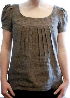 Blusa com pregas abaixo pala-Great pattern!