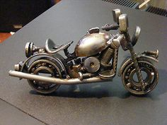 Vintage Harley Style Motorcycle Nuts & Bolts Art