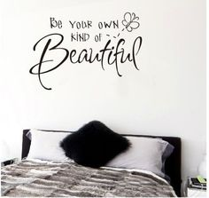 $6.95  - 6040cm Be Your Own Kind of Beautiful English Letters Wall Sticker Rose Pink Butterfly Removable Waterproof Home Art Decoration Mural Wall Decal Home Decor Bedroom Sitting Room Vinyl DIY Art Decals *** Read more at the image link. (This is an affiliate link) #WallStickersMurals