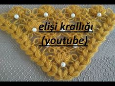 İNCİLİ FISTIKLI BASİT ŞAL YAPILIŞI/THE GOSPEL OF SIMPLE SHAWL WITH PISTACHIO - YouTube Crochet Necklace Pattern, Crochet Shawl, Crochet Stitches, Learn To Crochet, Shawls And Wraps, Pistachio, Hair Pins, Projects To Try, Scarf Patterns
