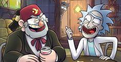 Gravity Falls,фэндомы,Rick and Morty,Рик и Морти, рик и морти, ,GF Разное