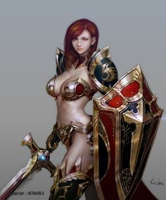 Rena 'Guild Of Honor' _ Rena *All reserved by Netmarble* Elf Queen 'Guild Of Honor' *All reserved by Netmarble* KALMA . Fantasy Female Warrior, Fantasy Armor, Warrior Women, Character Concept, Character Art, Concept Art, High Fantasy, Fantasy World, Fantasy Characters