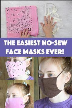 no sew face mask diy t shirt ~ no sew face mask ; no sew face mask diy ; no sew face mask bandana ; no sew face mask pattern ; no sew face mask tshirt ; no sew face mask from socks ; no sew face mask from tshirt ; no sew face mask diy t shirt Easy Face Masks, Homemade Face Masks, Diy Face Mask, Couture Main, Diy Couture, Mascarilla Diy, Sewing Hacks, Sewing Projects, Reusable Shopping Bags