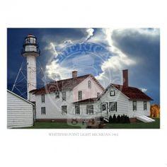 Whitefish Point Lighthouse Michigan 1861 1