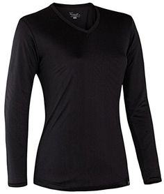 Terramar Thermasilk CS Jersey Long Sleeve V-Neck - Women's -- You can find out more details at the link of the image.