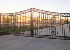 Iron Driveway Gates Driveway Entrance, Entrance Gates, Moreno Valley, Gate Openers, Gate Operators, Sliding Gate, Private Property, Iron Gates, Deck