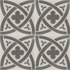 Carreau de ciment sol et mur gris clair/foncé Medieval l.20xL.20cm | Leroy Merlin