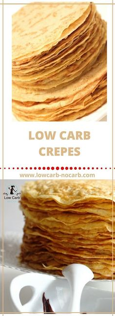 Low Carb Crepes are the best invention so far in our kitchen. It is eaten every time I make some. And it is a must after dinner deserts replacements. Keto Foods, Keto Recipes, Cake Recipes, Low Carb Crepes, Low Carb Desserts, Low Carb Breakfast, Breakfast Recipes, Breakfast Ideas, Low Carb Diet