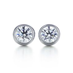 Aretes Elsa Peretti® Diamonds by the Yard. Con platino. | Tiffany & Co.