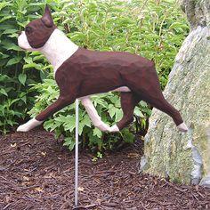 Boston Terrier Garden Stake Choice of Black or Red | eBay