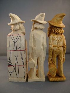 Back view of Progressive Steps for carving Hillbilly with jug ~ www.woodbeecarve... -  - #wood Wood Carving Patterns, Wood Carving Art, Dremel Carving, Carving Designs, Whittling Wood, Soap Carving, Woodworking Projects, Wood Projects, Woodworking Plans