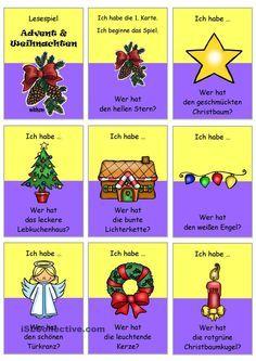 Lesespiel _ Weihnachtszeit 1 _ mit Adjektiven _ Ich habe...Wer hat...?