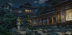"""自然が美しい山間に暮らす""""三葉""""と、大都会に暮らす""""瀧""""の部屋"""
