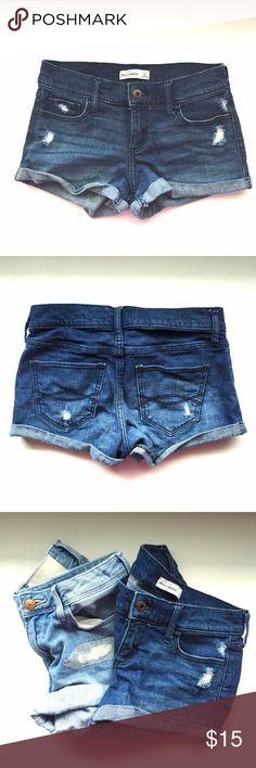 Abercrombie girls denim shorts Abercrombie +Fitch Girls denim shorts in great condition. Bundle with H&M shorts for discount Abercrombie & Fitch Bottoms Shorts