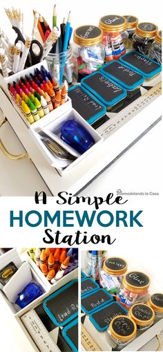 Back-to-School Homework Station