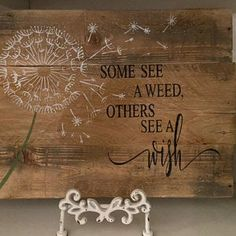 Rustic Wood Sign Some See a Weed Others See a Wish   Etsy Pikachu Crochet, Rustic Wood Signs, Room Signs, Custom Wood, Wood Pallets, Weed, Playroom, Farmhouse Decor, Family Room