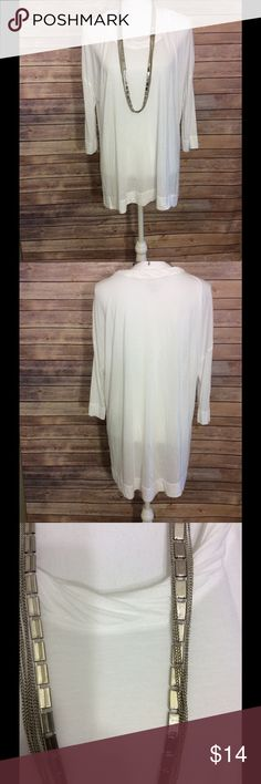Lane Bryant light top/tunic Light, soft and comfortable top. Gently used, fit more like a tunic on a size 14. Lane Bryant Tops Tunics