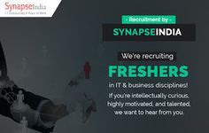 SynapseIndia Recruitment is the full proof process with international standards…