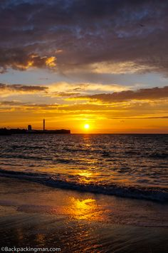 Sunset in Cadiz, Spain.