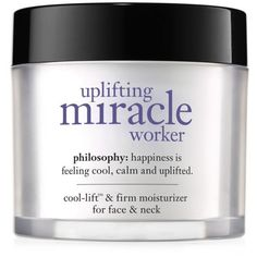 Philosophy  Uplifting Miracle Worker Face Moisturizer ($65) ❤ liked on Polyvore featuring beauty products, skincare, face care, face moisturizers and face moisturizer