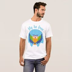 Owl fly be free T-Shirt - animal gift ideas animals and pets diy customize