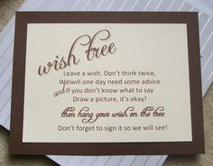 Wishing Tree Tags Instructions Sign Customize For By Paperpixie