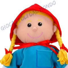 Una marionetta da mano che è anche una bambola! 30cm. http://www.giocattolidalmondo.it/articoli/809/cappuccetto-rosso-set-completo-di-marionette-in-stoffa-da-guanto-e-da-dita-fiesta-crafts.htm