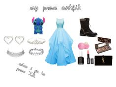 """""""prom!!!"""" by calumkitty123 on Polyvore featuring Yves Saint Laurent, Accessorize, Marc by Marc Jacobs, Essie, Eos and Urban Decay"""