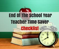 What a time saver.  This teacher has a checklist that I can go through to make sure I am ending the year correctly.  Plus, when I get these checklist items done and return to school next year I will be ahead of the game. Love it!