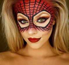 Skip purchasing a full face mask for this look and get your spidey senses tingling with a spiderman makeup application that'll make your eyes pop against the webbed features.