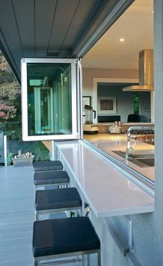 30 Amazing Kitchen Window Bar Designs You Would Love To Own #kitchens #kitchendesign #kitchendesignideas