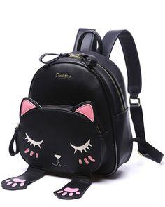 Black Kitty Backpack