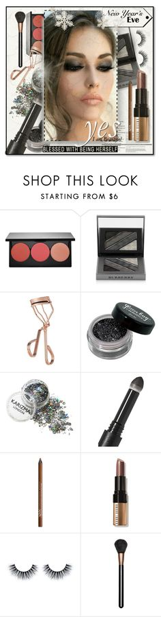 """Smokey Look- NYE 2016"" by luxurythought ❤ liked on Polyvore featuring beauty, Smashbox, Burberry, Tweezerman, Surratt, NYX, Bobbi Brown Cosmetics and MAC Cosmetics"