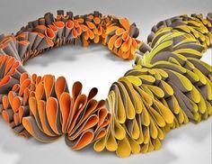 "Blossom Neckpiece, by Marian Acosta Contreras :: featured in ""Showcase 500 Art Necklaces"""