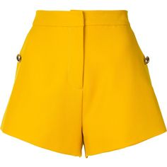 Macgraw Field shorts (1 140 PLN) ❤ liked on Polyvore featuring shorts, short, bottoms, pants, yellow short shorts, yellow shorts, short shorts and macgraw