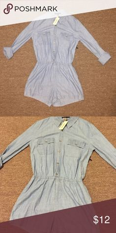 Jean romper NWT Adorable Jean romper. Brand-new with tags size small from forever 21. Forever 21 Dresses
