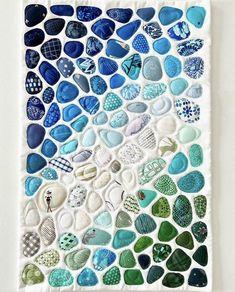 I Make Seaglass Art Quilts Using Leftover Fabric Scraps. I Love Showcasing The Last Bits Of Favorite Fabrics
