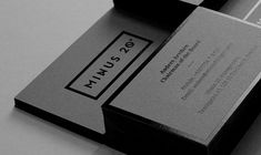 minus 20 management by the forgery // via design work life . Brand . Corporate Identity Design . Black Business Card . Graphic .