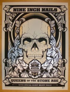 Nine Inch Nails w/ Queens of the Stone Age and Brody Dalle - silkscreen concert poster (click image for more detail) Artist: Hydro74 Venue: Sydney Entertainment Centre Location: Sydney, Australia Conc