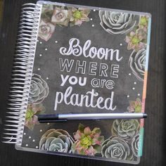 Can't get enough of my new Erin Condren Life Planner cover in 'bloom: greens' #plan #planner #plannernerd #erincondren #lifeplanner #planning @instaplanning