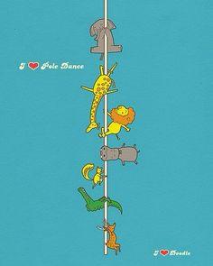 Cute pole dancing wildlife! #polefitnessworld